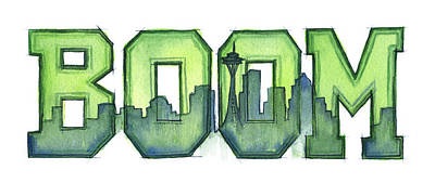 Seattle Mixed Media - Legion Of Boom by Olga Shvartsur
