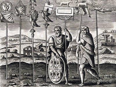 Legion Standards, Ancient Roman Warfare Art Print by Science Source