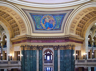 Photograph - Legislation Mural - Capitol - Madison - Wisconsin by Steven Ralser