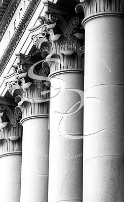 Photograph - Legislative Building Columns 1950 by Merle Junk