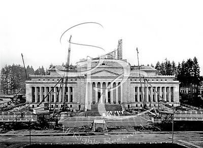 Photograph - Legislative Building Construction March 1925 by Joe McKnight