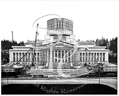 Photograph - Legislative Building Construction 1925 by Joe McKnight