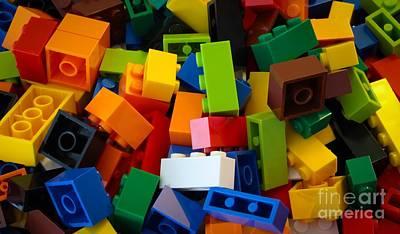 Photograph - Lego Bricks by David Warrington