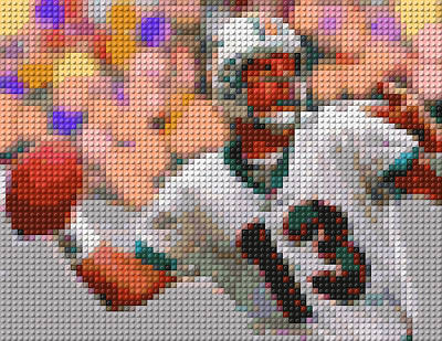 Lego Dan Marino Art Print by Paul Van Scott