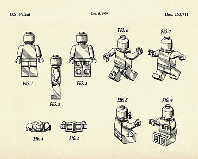 Lego Figure-1979 Art Print by Pablo Romero