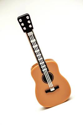 Acoustic Guitar Photograph - Lego Guitar by Samuel Whitton