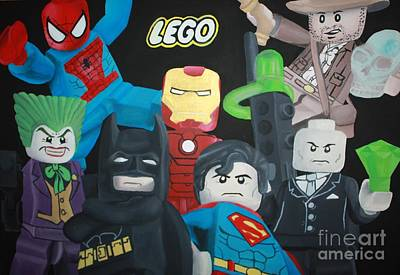 Lego Hero's Art Print by Laura Mancini