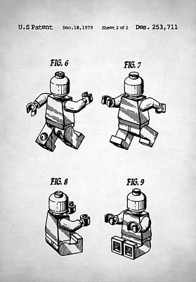 Digital Art - Lego Man Patent by Taylan Apukovska