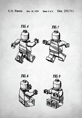 Digital Art - Lego Man Patent by Taylan Apukovska
