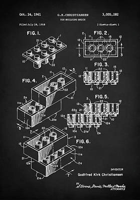 Digital Art - Lego Patent by Taylan Apukovska