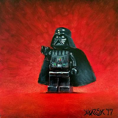 Painting - Lego Vader by Jason Marsh