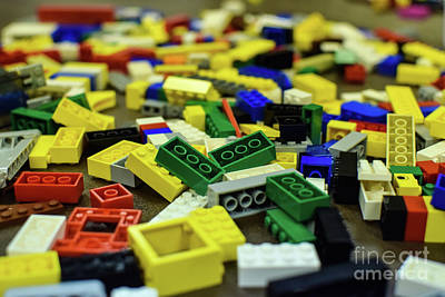 Photograph - Legos by Derry Murphy