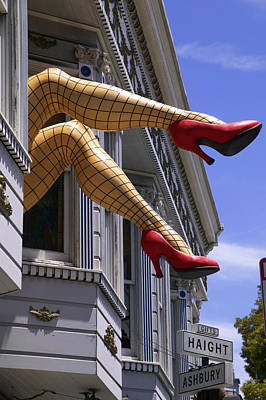 Funny Signs Photograph - Legs Haight Ashbury by Garry Gay