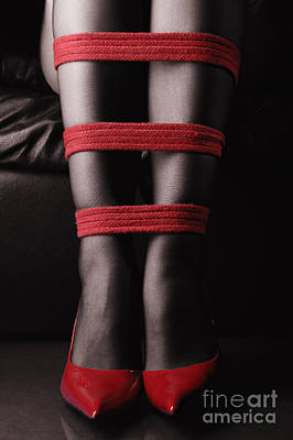 Legs In Red Ropes Art Print by MaximImages