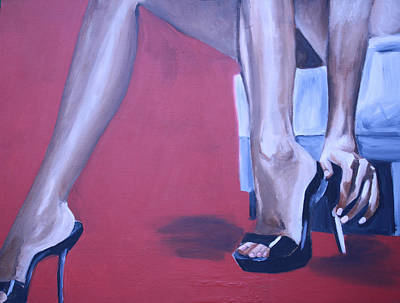 Stillettos Painting - Legs by Mikayla Ziegler