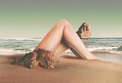 Trippy Digital Art - Legscape by Fran Rodriguez