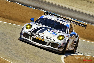 Photograph - Leh Keen And Cooper Macneil Porche 911 Tudor Championship by Blake Richards
