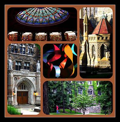 Photograph - Lehigh University Border Composite Color by Jacqueline M Lewis