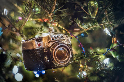 Cameras Wall Art - Photograph - Leica Christmas by Scott Norris