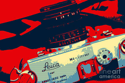Digital Art - Leica Warhol by John Rizzuto