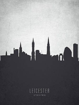 Leicester Painting - Leicester England Cityscape 19 by Aged Pixel