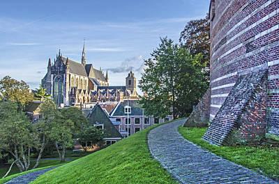 Leiden, The Church And The Castle Art Print