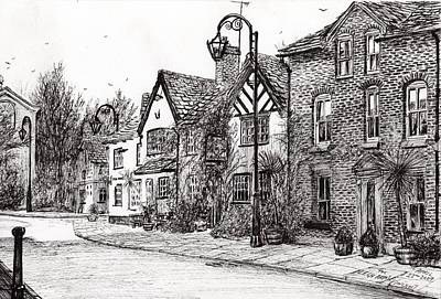 Building Exterior Drawing - Leigh Arms Prestbury by Vincent Alexander Booth