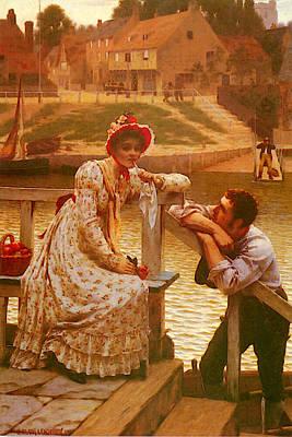 Leighton Edmund Blair Courtship Art Print