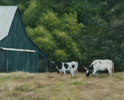 Leipers Fork Painting - Leipers Fork Locals by Margaret Batcheler