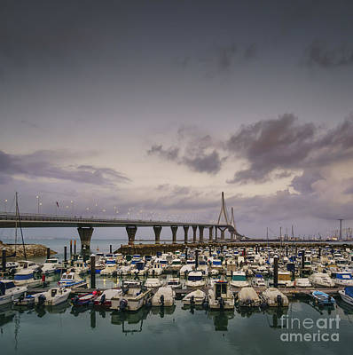 Photograph - Leisure Port Under 1812 Bridge Cadiz Spain by Pablo Avanzini