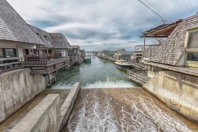 Photograph - Leland Michigan With Dam by John McGraw
