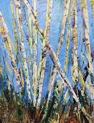 Painting - Leland's Woods by Ward