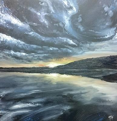 Painting - Lelant Beach, Porth Kidney, Cornwall by Keran Sunaski Gilmore