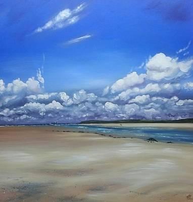 Painting - Lelant To Gwithian by Keran Sunaski Gilmore