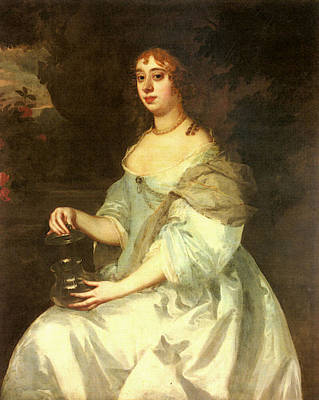 Digital Art - Lely Sir Peter Portrait Of Hannah Bulwer by Sir Peter Lely