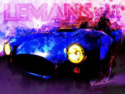 Digital Art - Lemans 24 Speed Racer by Chas Sinklier