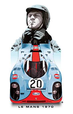 Digital Art - Lemans Racing by Gary Grayson