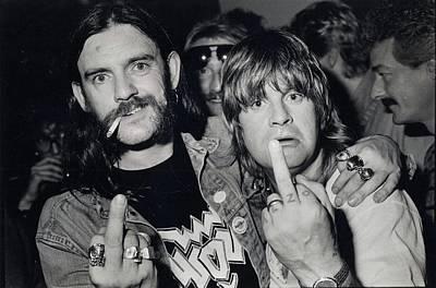 Lemmy Photograph - Lemmy And Ozzy by Stephen Payne
