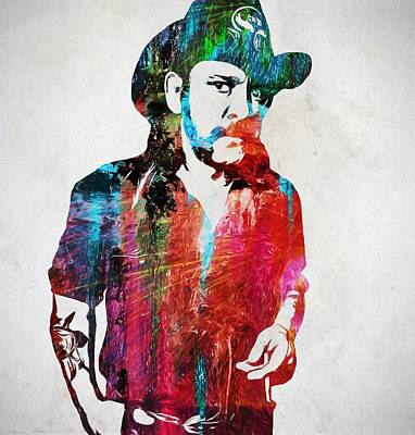 Music Paintings - Lemmy Kilmister by Dan Sproul