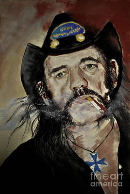 Lemmy Drawing - Lemmy Kilmister Motorhead by Maja Sokolowska