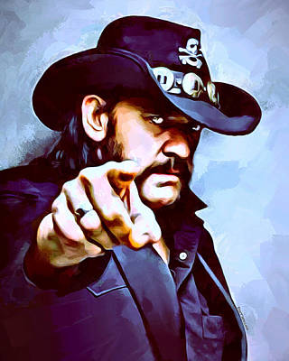 Lemmy Digital Art - Lemmy Kilmister Painting by Scott Wallace