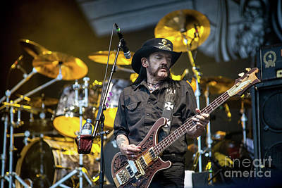 Lemmy Photograph - Lemmy Kilmister, Singer Of Rock Band Motorhead, Performing Live In July 2014 - 001 by Olivier Parent
