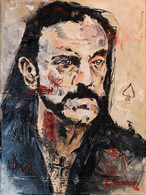 Lemmy Painting - Lemmy Kilmister The Ace Of Spades by Charles Horsman
