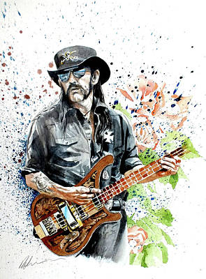 Painting - Lemmy by Mark Robinson