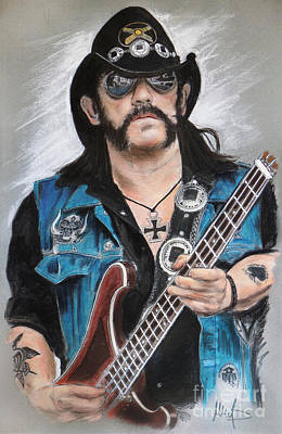 Bassist Mixed Media - Lemmy by Melanie D
