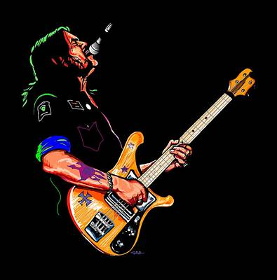 Lemmy Digital Art - Lemmy Of Motorhead by GOP Art