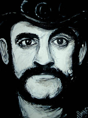 Lemmy Painting - Lemmy Portrait by Sam Hane