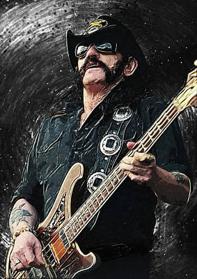 Lemmy Digital Art - Lemmy by Taylan Apukovska