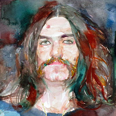 Lemmy Painting - Lemmy - Watercolor Portrait by Fabrizio Cassetta