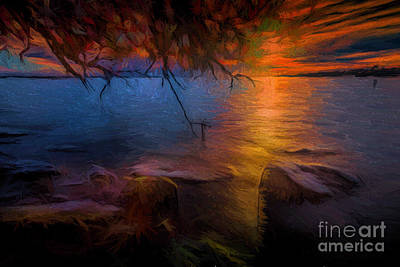 Photograph - Lemoine Point Sunset by Roger Monahan